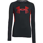 Under Armour Boys' HeatGear Armour Up Fadeaway Fitted Long Sleeve Shirt
