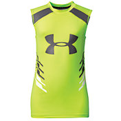 Under Armour Boys' HeatGear Armour Up Fadeaway Sleeveless Shirt