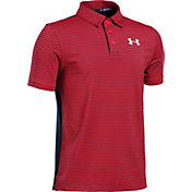 Under Armour Boys' Playoff Stripe Blocked Golf Polo