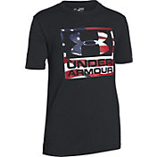 Under Armour Boys' Big Flag Logo T-Shirt