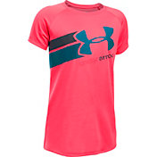 Under Armour Girls' Fast Lane Big Logo Tech T-Shirt