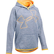 Under Armour Girls' Armour Fleece Novelty Jumbo Logo Hoodie