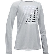 Under Armour Girls' Slash Graphic Long Sleeve Shirt