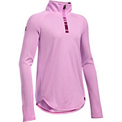 Under Armour Girls' Tech Novelty Quarter Zip Long Sleeve Shirt