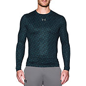 Under Armour Men's ColdGear Armour Printed Compression Crewneck Long Sleeve Shirt
