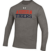 Under Armour Men's Auburn Tigers Grey Tri-Blend Long Sleeve T-Shirt