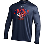 Under Armour Men's Auburn Tigers Blue UA Tech Long Sleeve Shirt