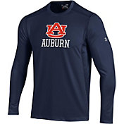 Under Armour Men's Auburn Tigers Raid Performance Long Sleeve Blue T-Shirt
