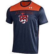 Under Armour Men's Auburn Tigers Blue/Orange Foundation UA Tech T-Shirt