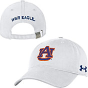 Under Armour Men's Auburn Tigers White Garment Washed Adjustable Hat