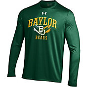 Under Armour Men's Baylor Bears Green UA Tech Long Sleeve Shirt