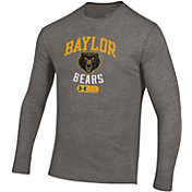 Under Armour Men's Baylor Bears Grey Tri-Blend Long Sleeve T-Shirt