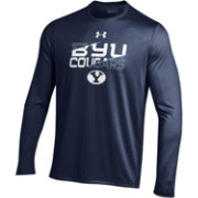 Under Armour Men's BYU Cougars Blue Tech Performance Long Sleeve Shirt