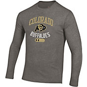 Under Armour Men's Colorado Buffaloes Grey Tri-Blend Long Sleeve T-Shirt