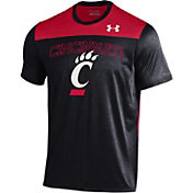 Under Armour Men's Cincinnati Bearcats Black/Red Foundation UA Tech T-Shirt