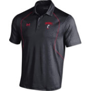 Under Armour Men's Cincinnati Bearcats Black/Red Apex Performance Polo