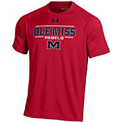 Under Armour Men's Ole Miss Rebels Red Tech Performance T-Shirt