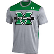 Under Armour Men's Marshall Thundering Herd Grey/Green Foundation UA Tech T-Shirt