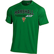 Under Armour Men's Marshall Thundering Herd Green Tech Performance T-Shirt