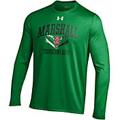 Under Armour Men's Marshall Thundering Herd Green UA Tech Long Sleeve Shirt