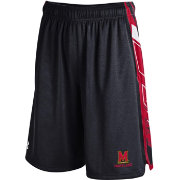 Under Armour Men's Maryland Terrapins Black/Red Foundation Basketball Short