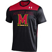 Under Armour Men's Maryland Terrapins Black/Red Foundation UA Tech T-Shirt