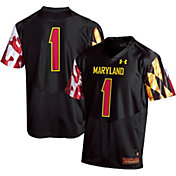 Under Armour Men's Maryland Terrapins #1 Replica Black Football Jersey