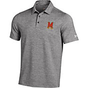 Under Armour Men's Maryland Terrapins Grey Elevated Heather Polo