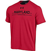 Under Armour Men's Maryland Terrapins Red Charged Cotton T-Shirt