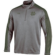 Under Armour Men's Notre Dame Fighting Irish Grey Shamrock Series Quarter-Zip