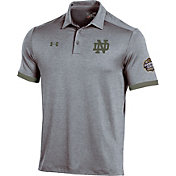 Under Armour Men's Notre Dame Fighting Irish Grey Shamrock Series Polo