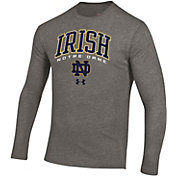 Under Armour Men's Notre Dame Fighting Irish Grey Tri-Blend Long Sleeve T-Shirt