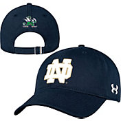 Under Armour Men's Notre Dame Fighting Irish Navy Garment-Washed Adjustable Hat