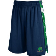 Under Armour Men's Notre Dame Fighting Irish Navy/Green Foundation Basketball Short
