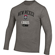 Under Armour Men's New Mexico Lobos Grey Tri-Blend Long Sleeve T-Shirt