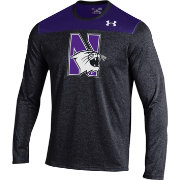 Under Armour Men's Northwestern Wildcats Black/Purple Foundation Long Sleeve UA Tech Tee