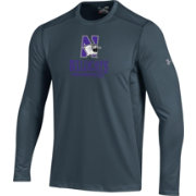 Under Armour Men's Northwestern Wildcats Raid Performance Long Sleeve Grey T-Shirt