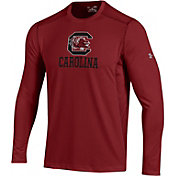 Under Armour Men's South Carolina Gamecocks Raid Performance Long Sleeve Garnet T-Shirt
