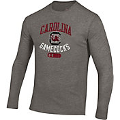 Under Armour Men's South Carolina Gamecocks Grey Tri-Blend Long Sleeve T-Shirt