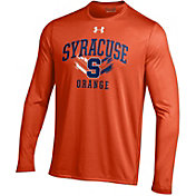 Under Armour Men's Syracuse Orange Orange Long Sleeve Tech T-Shirt