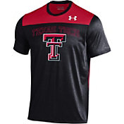 Under Armour Men's Texas Tech Red Raiders Black/Red Foundation UA Tech T-Shirt