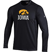 Under Armour Men's Iowa Hawkeyes Raid Performance Long Sleeve Black T-Shirt