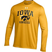 Under Armour Men's Iowa Hawkeyes Gold UA Tech Long Sleeve Shirt