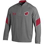 Under Armour Men's Wisconsin Badgers Grey Cage Jacket