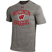 Under Armour Men's Wisconsin Badgers Grey Triblend T-shirt