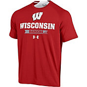 Under Armour Men's Wisconsin Badgers Red Charged Cotton T-Shirt