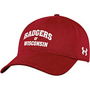 Under Armour Men's Wisconsin Badgers Red Cotton Adjustable Hat