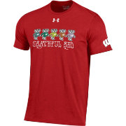 Under Armour Men's Wisconsin Badgers Red 'Grateful Red' T-Shirt