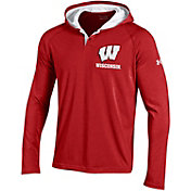 Under Armour Men's Wisconsin Badgers Red Long Sleeve Hooded Shirt