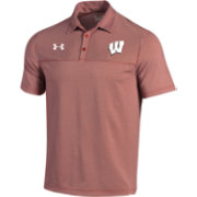Under Armour Men's Wisconsin Badgers Red Showdown Polo